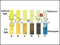 A naphthalene-based colorimetric and fluorometric ...