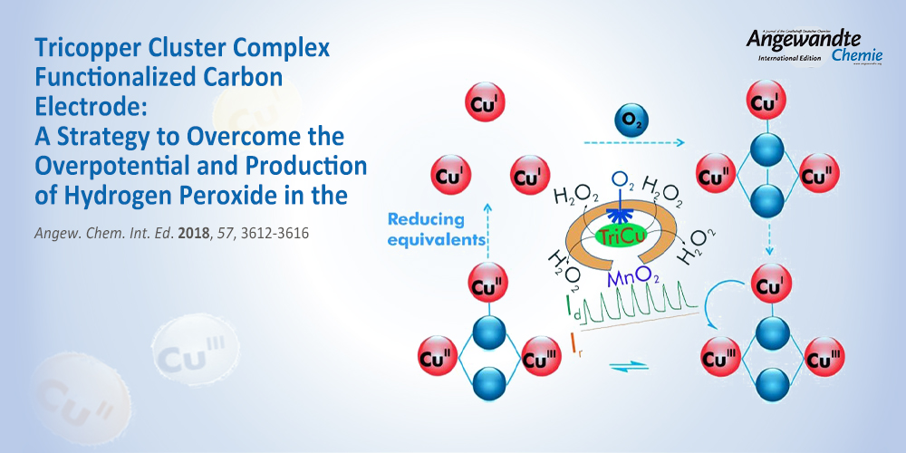 Tricopper Cluster Complex Functionalized Carbon Electrode: A Strategy to Overcome the Overpotential and Production of Hydrogen Peroxide in the Oxygen Reduction Reaction